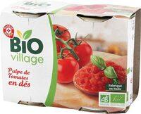 Pulpe de tomates en des bio - Produit
