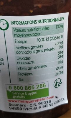 Confiture figues - Nutrition facts