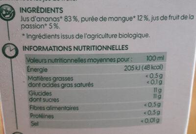 Pur jus exotique bio brique - Ingredienti - fr