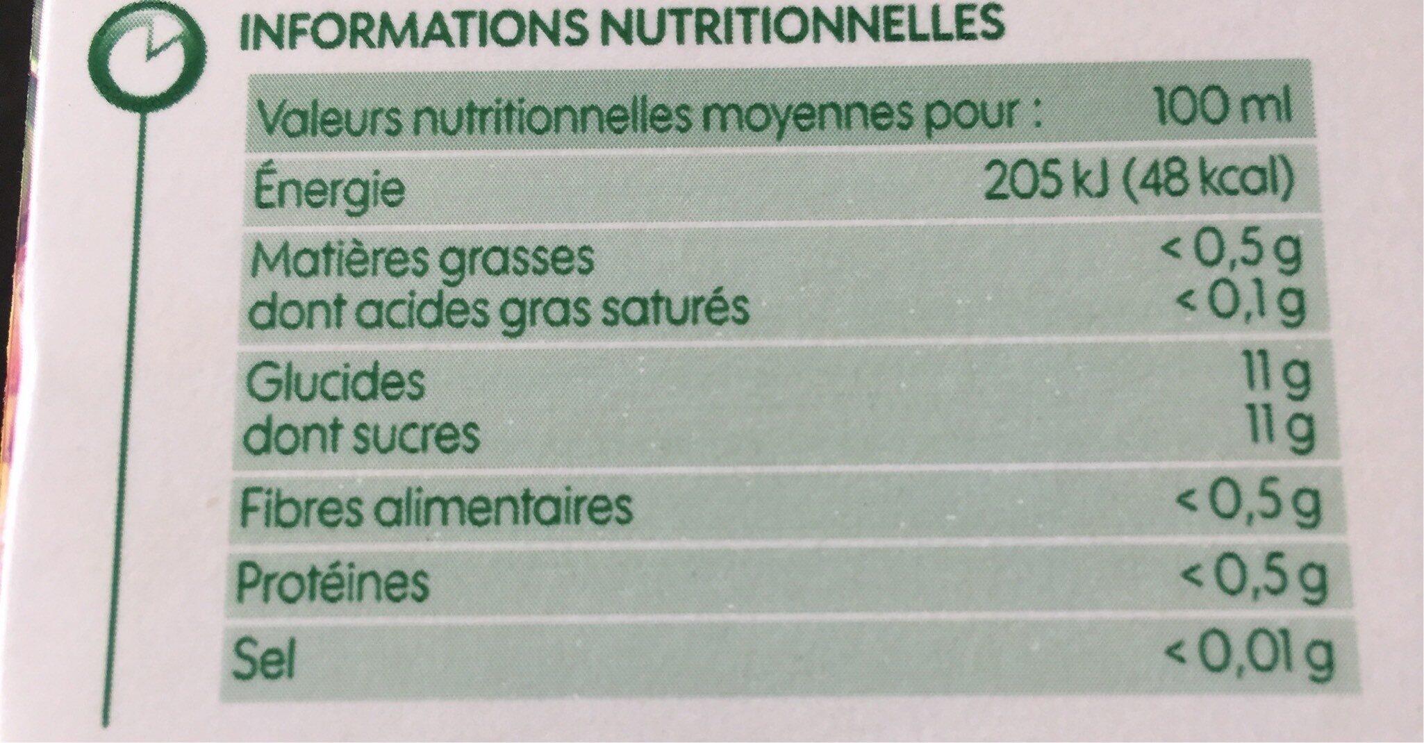 Pur jus exotique bio brique - Valori nutrizionali - fr