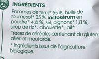 Chips bio goût crème oignon - Ingrédients