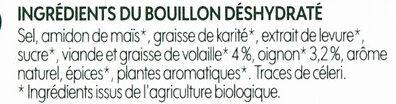 Bouillon cube volaille bio x 8 - Ingrédients - fr