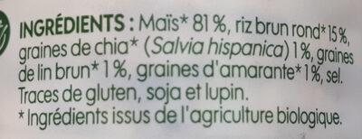Mini galettes de maïs multigraines - Ingredients - fr