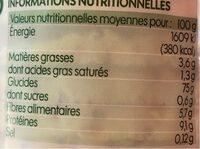 Mini galettes de maïs multigraines - Nutrition facts - fr