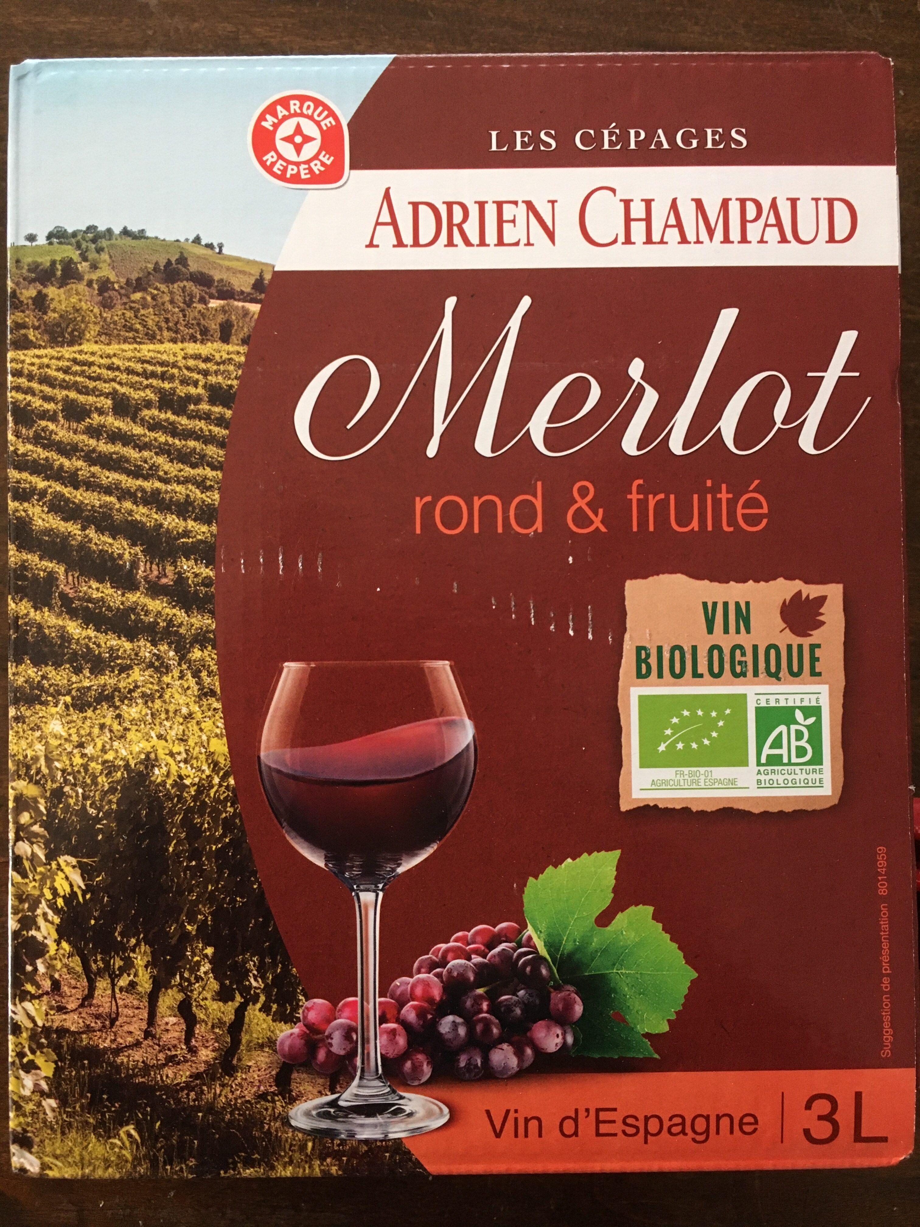Adrien Champaud Merlot rond & fruité - Product - fr