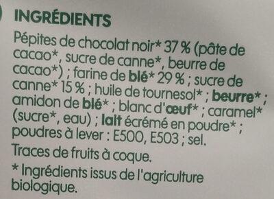 Cookies Mega pepites de chocolat - Ingredients - fr