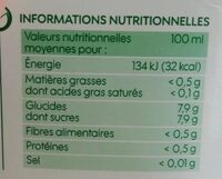 Nectar du Verger - Valori nutrizionali - fr