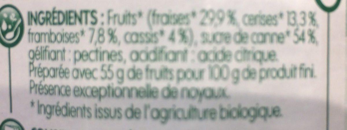 Confiture fruits rouges - Ingrédients - fr