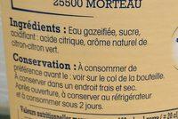 Limonade RIEME - Ingrédients - fr