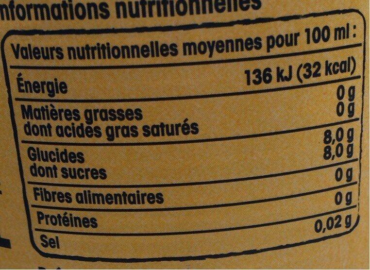 Limonade RIEME - Informations nutritionnelles - fr