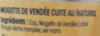 Mogettes De Vendée cuir au naturel - Ingredients - fr