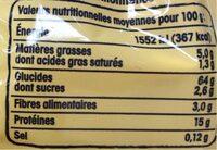 Pâtes d'Alsace Spaetzle (7 Œufs Frais par kilo de semoule) - Voedingswaarden - fr