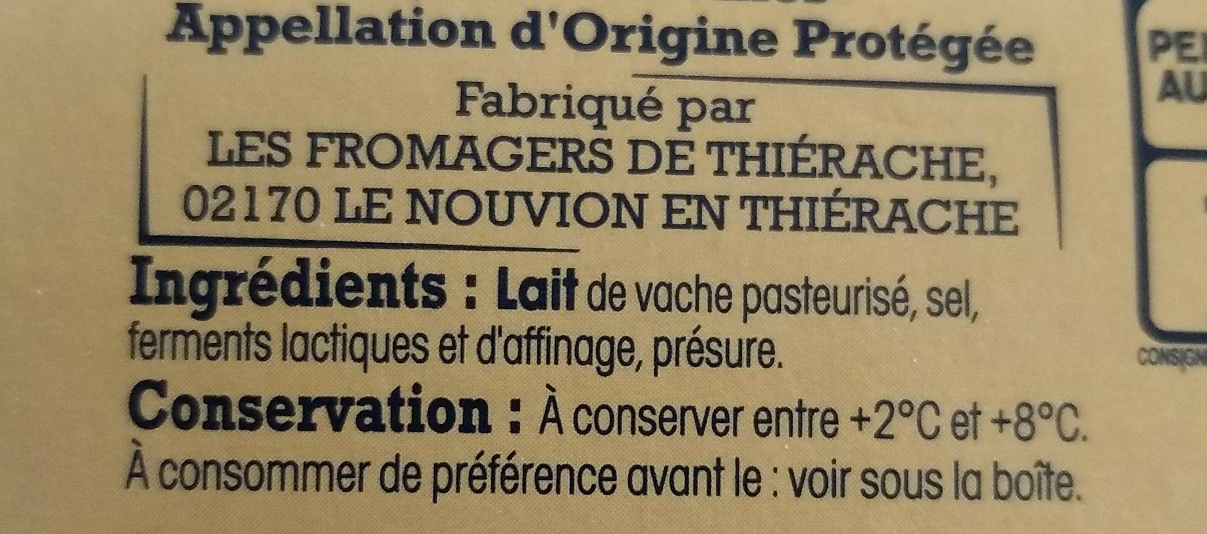 Quart Maroilles - Ingrediënten