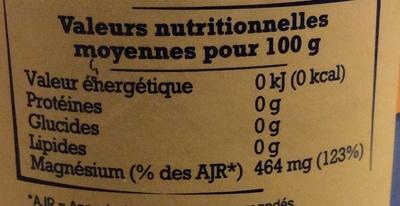 Sel de Guérande - Nutrition facts