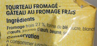 Tourteau fromagé du Poitou - Ingrédients - fr