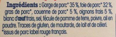 Pâté de campagne breton - Ingrédients