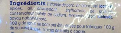 Diots fumés de Savoie - Ingrediënten