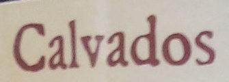 Calvados Pays d'Auge - Ingrédients - fr