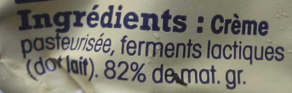 Beurre D'Isigny doux - Ingrédients - fr