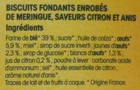 Rousquilles du Roussillon aux arômes naturels de citron et d'anis - Ingredients - fr