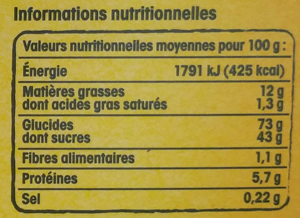 Rousquilles du Roussillon aux arômes naturels de citron et d'anis - Nutrition facts - fr