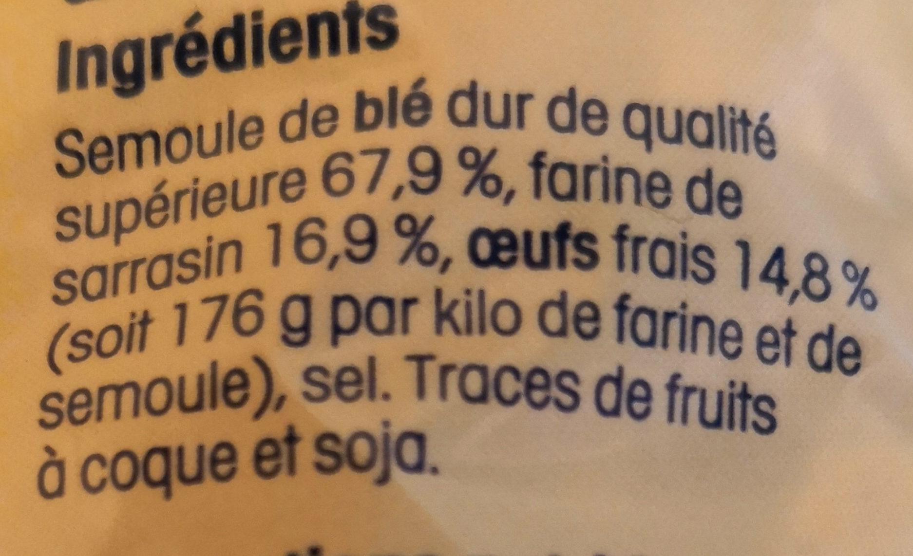 Pates crozets au Sarrasin - Inhaltsstoffe - fr