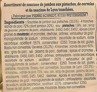 Assortiment de charcuterie d'Alsace, 12 tranches - Ingrédients - fr