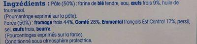 Ravioles du Dauphiné - Ingrédients