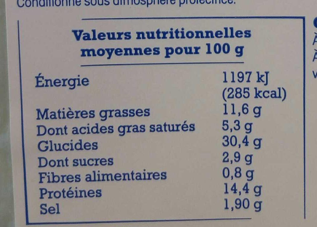 Ravioles du Dauphiné - Informations nutritionnelles