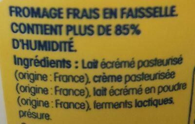 Faisselle de la Bresse - Ingrediënten