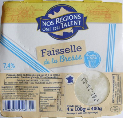 Faisselle de la Bresse (7,4 % MG) - 1