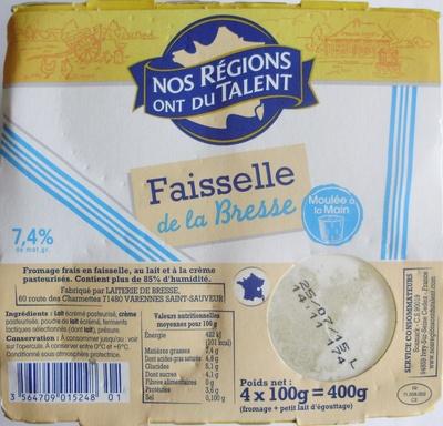 Faisselle de la Bresse (7,4 % MG) - Produit