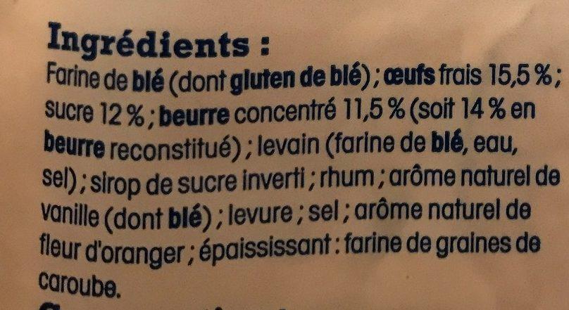 Brioche vendéenne - Pur beurre, tressée à la main, IGP - Ingrediënten