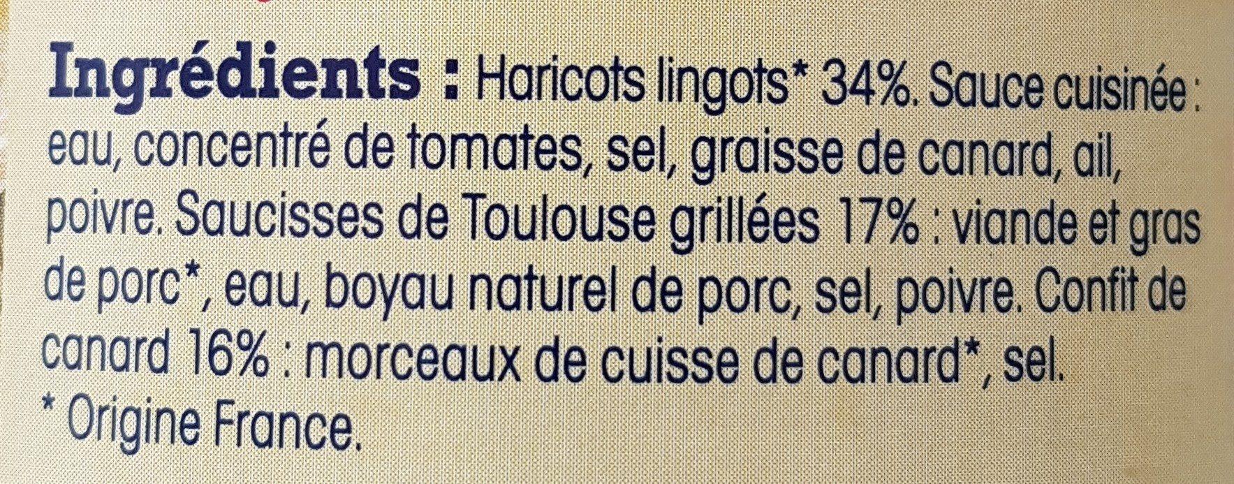 Cassoulet de Castelnaudary au confit de canard - Ingrediënten - fr
