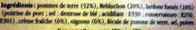 Tartiflette Gratinée au Reblochon de Savoie - Ingrédients - fr