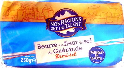 Beurre à la fleur de sel de Guérande, Demi-sel (80 % MG) - Product - fr