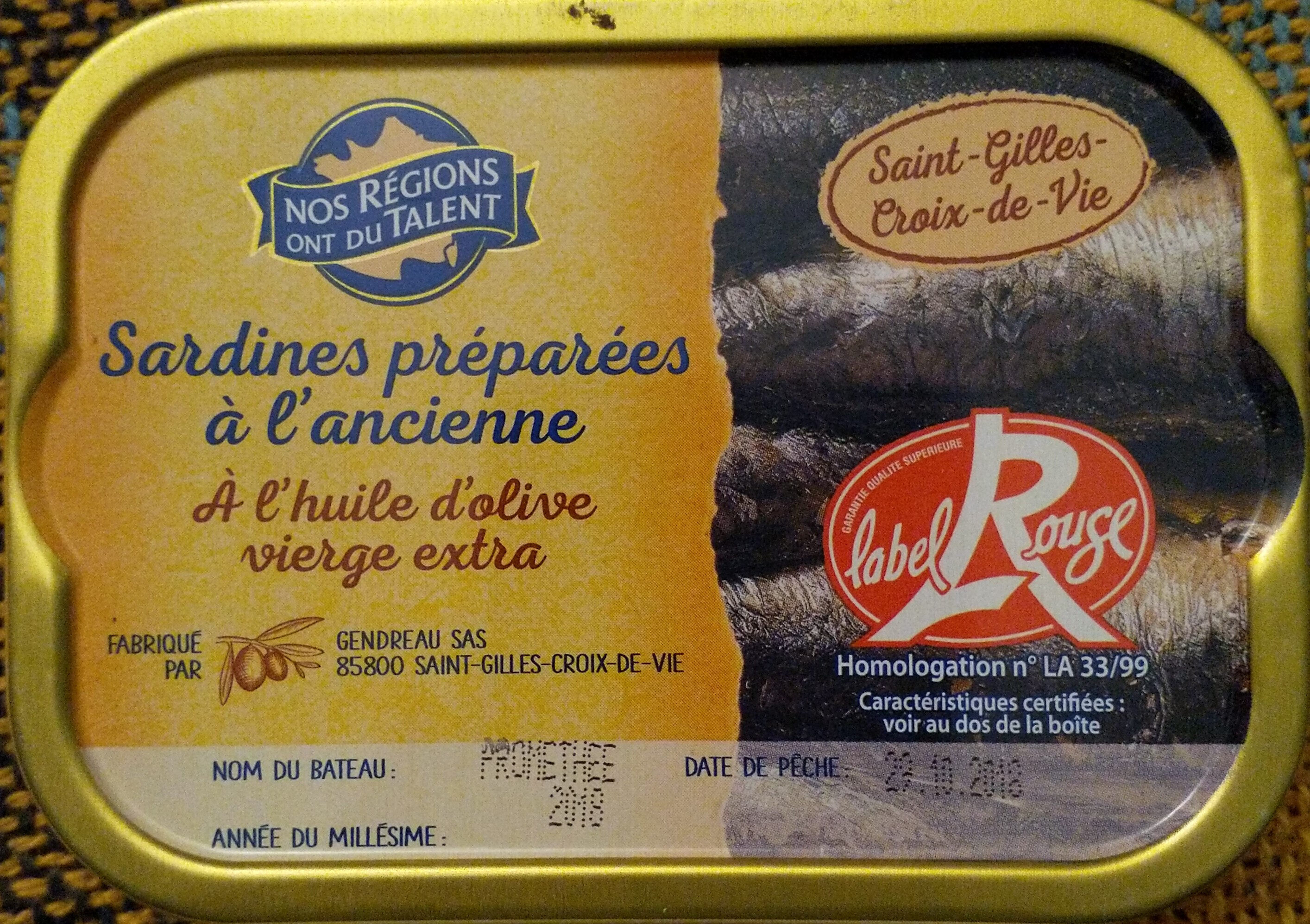 Sardines à l'huile d'olive verge extra (Préparées à l'ancienne) Label Rouge - Produkt