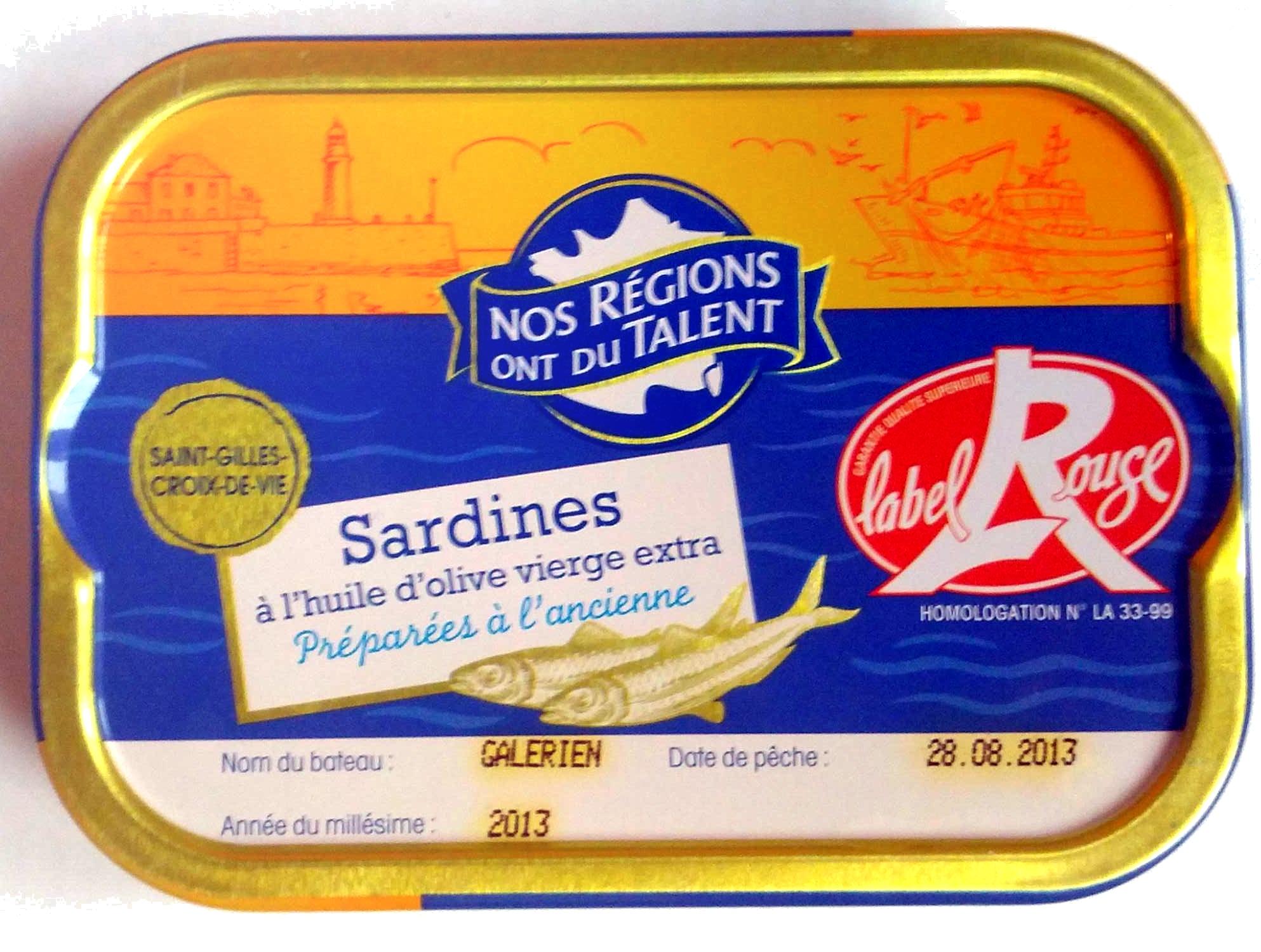 Sardines à l'huile d'olive verge extra (Préparées à l'ancienne) Label Rouge - Produit
