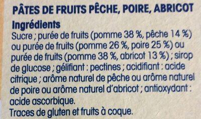 Pâtes de Fruits Jaunes - Ingrédients - fr
