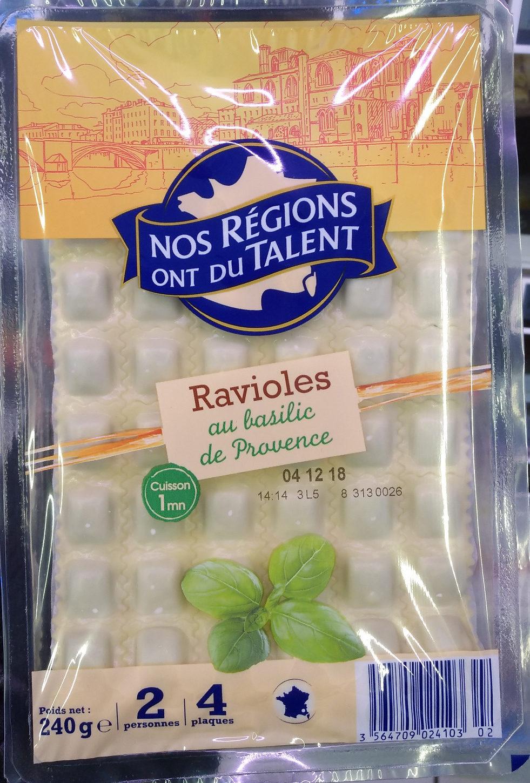 Ravioles au basilic de Provence - Produit - fr