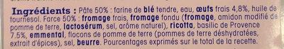 Ravioles au basilic de Provence - Ingrédients - fr