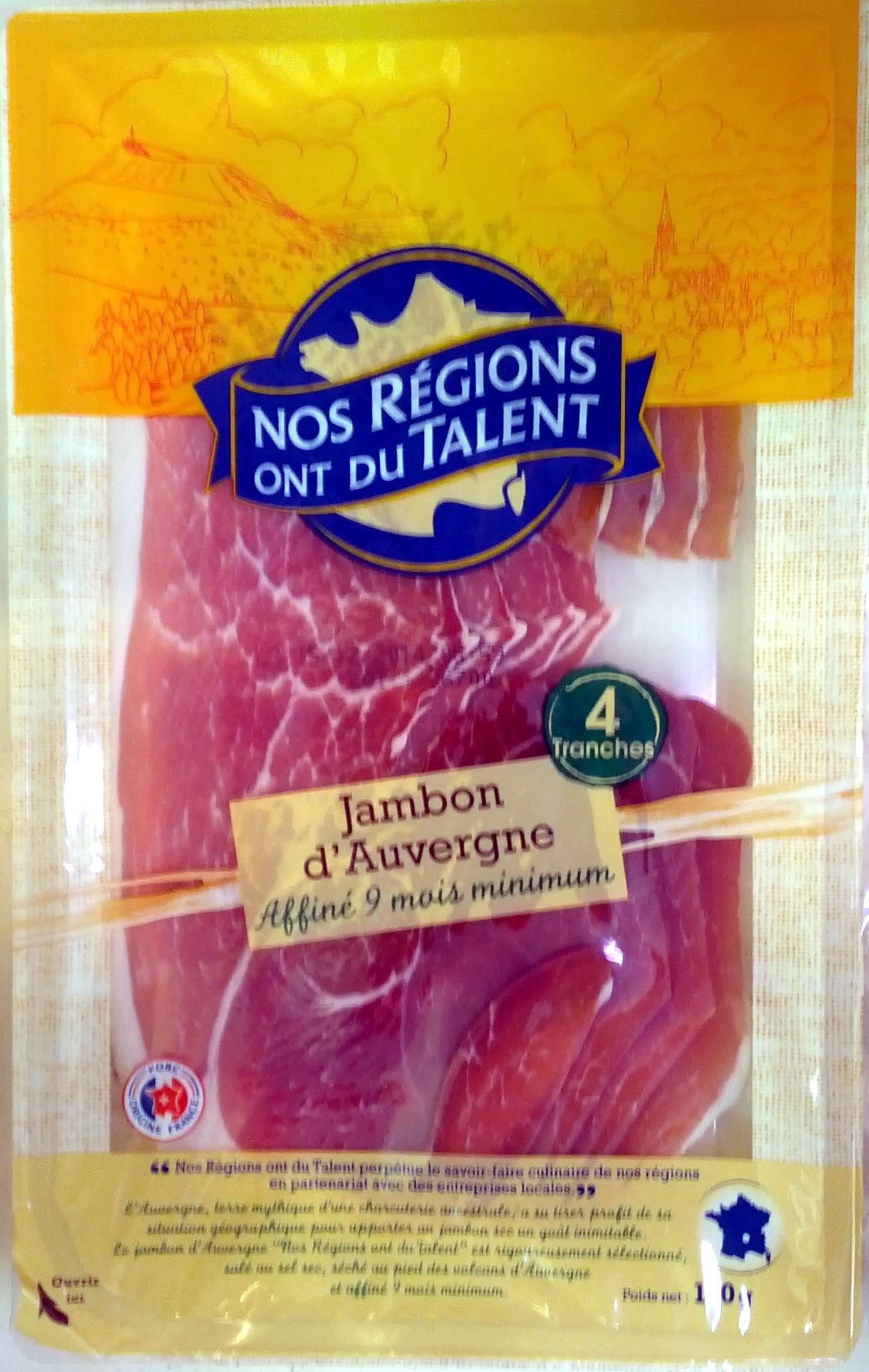 Jambon d'Auvergne (4 Tranches) - Product - fr