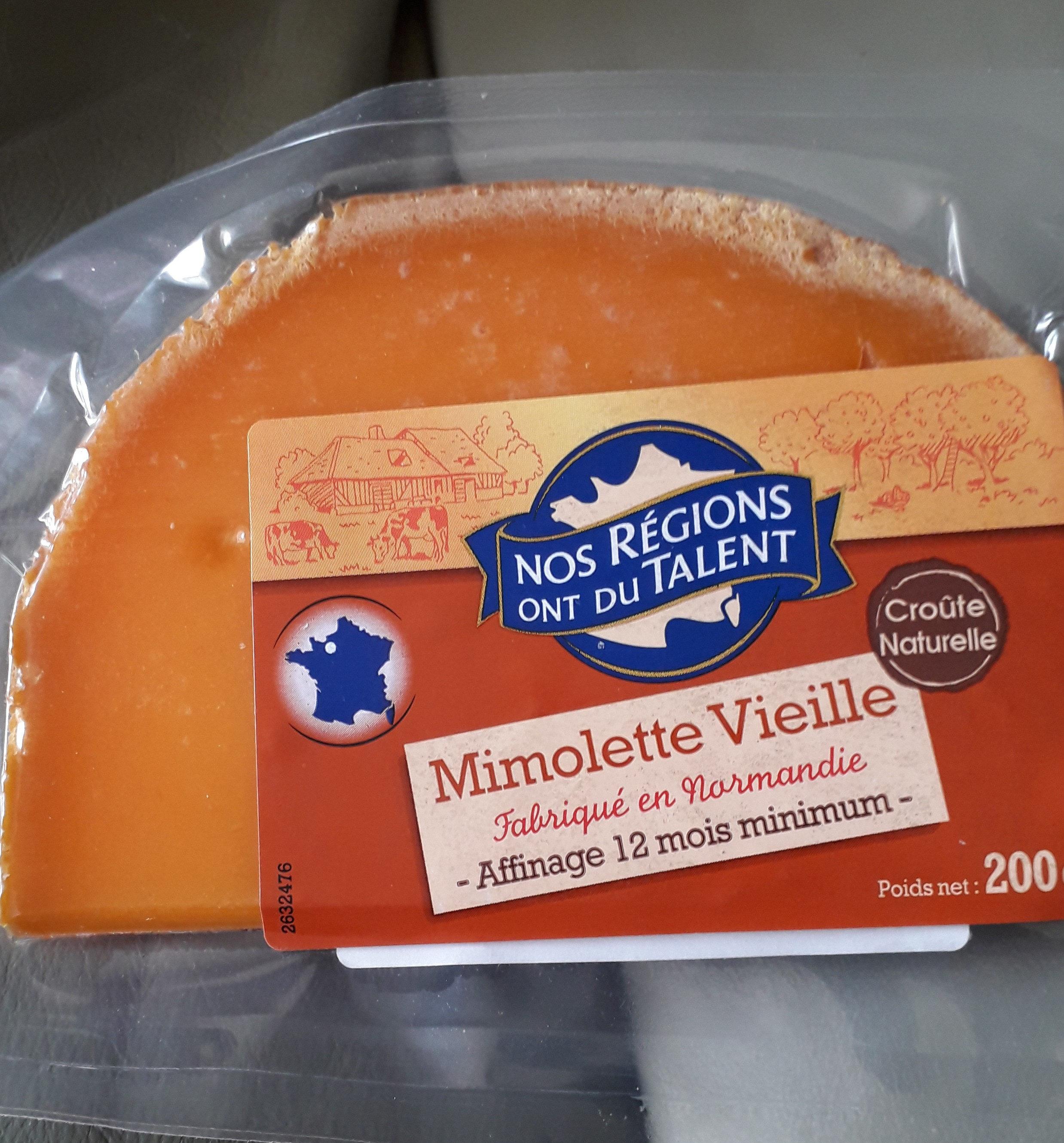 Mimolette vieille - Informations nutritionnelles - fr