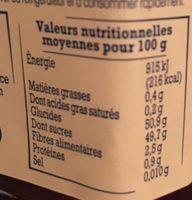 Framboises du Massif Central - Nutrition facts
