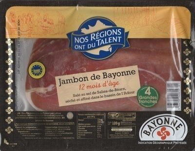 Jambon de Bayonne - 4 grandes tranches - Product - fr