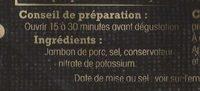 Jambon de Bayonne - 4 grandes tranches - Ingrédients - fr
