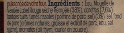 Mogettes cuisinées à base de Mogette de Vendée Label Rouge - Ingredienti - fr
