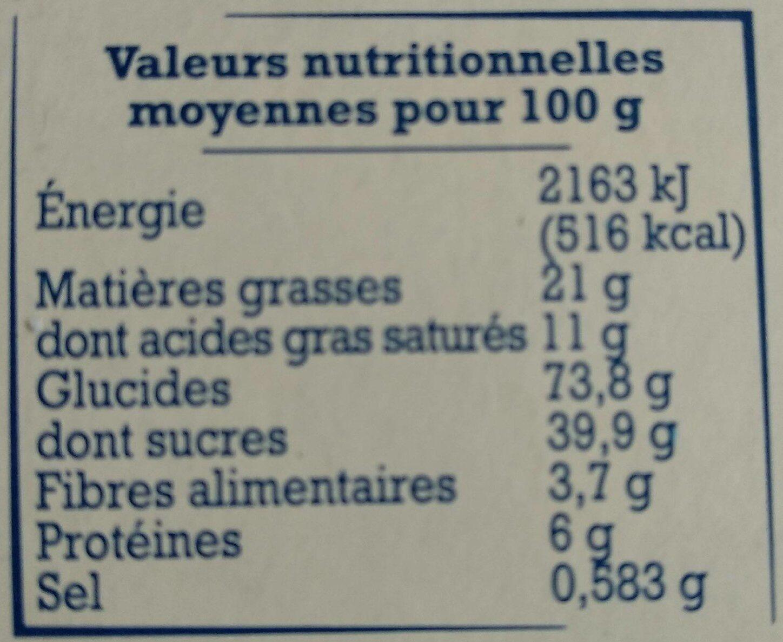 Crêpes dentelle de Bretagne - Informations nutritionnelles - fr