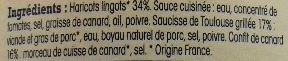 Cassoulet de Castelnaudary - Ingredients