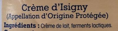 Crème fraîche d'Isigny - Ingrediënten - fr